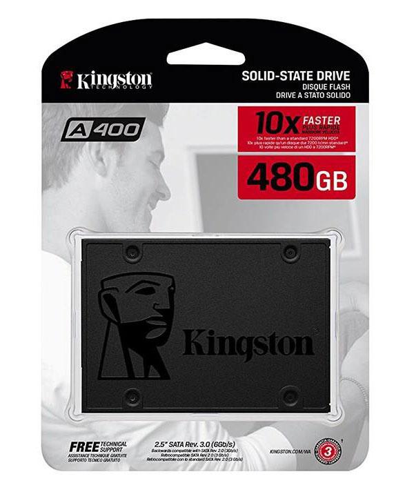 اس اس دی اینترنال کینگستون مدل A400 ظرفیت 480 گیگابایت